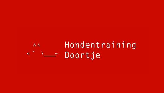 Nieuwe uiterlijk van de website Hondentraining Doortje